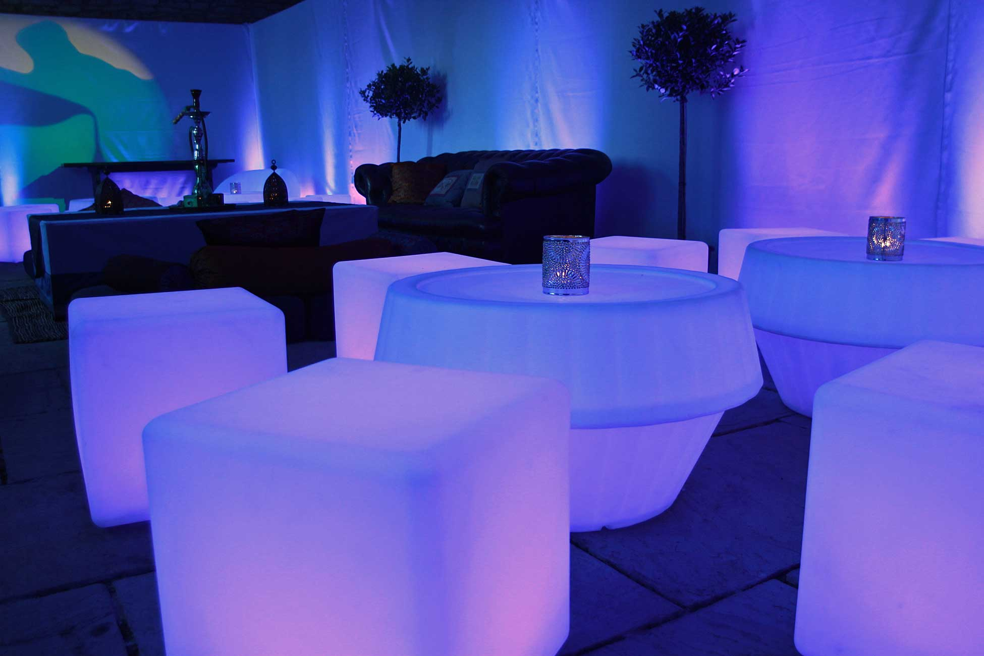 LED Furniture hire and supply for your wedding, party or event.