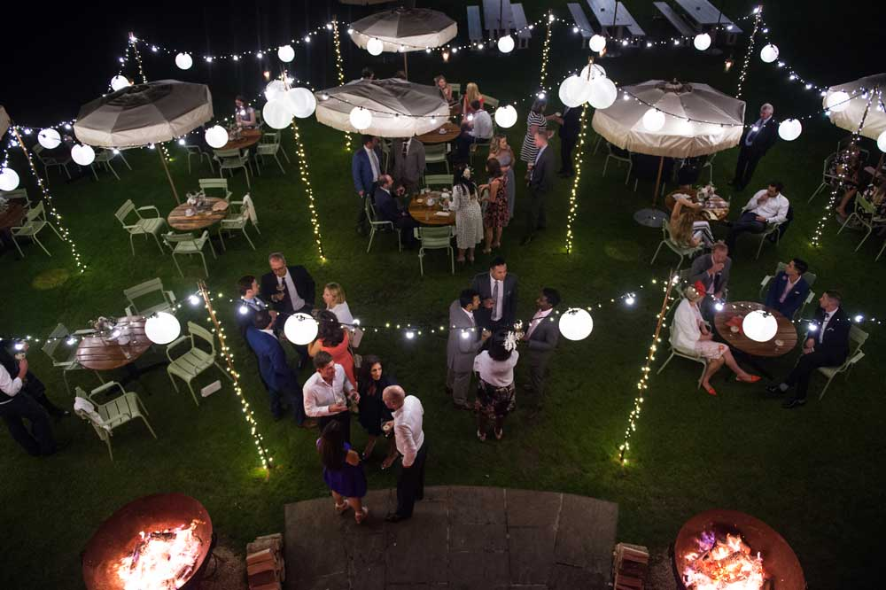 Overhead shot of our free standing lighting canopy from Especially Amy one of our favourite photographers. Shot at Babington House Hotel.