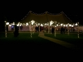 A beautiful country wedding with our exterior free standing canopy and traditional canvas marquee