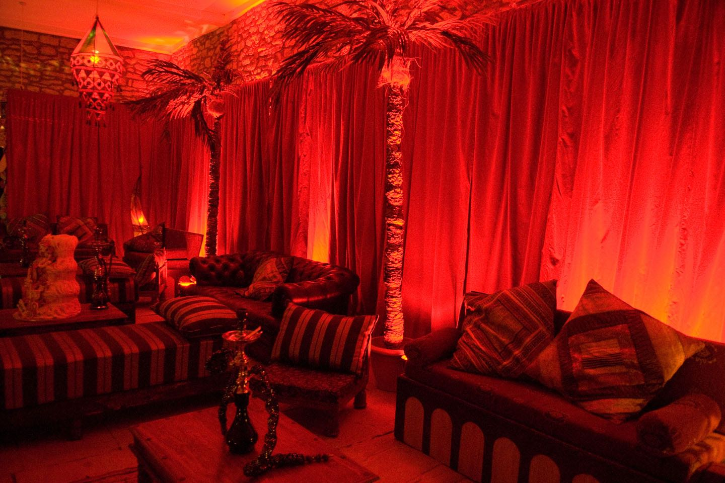 Image of a Moroccan themed party