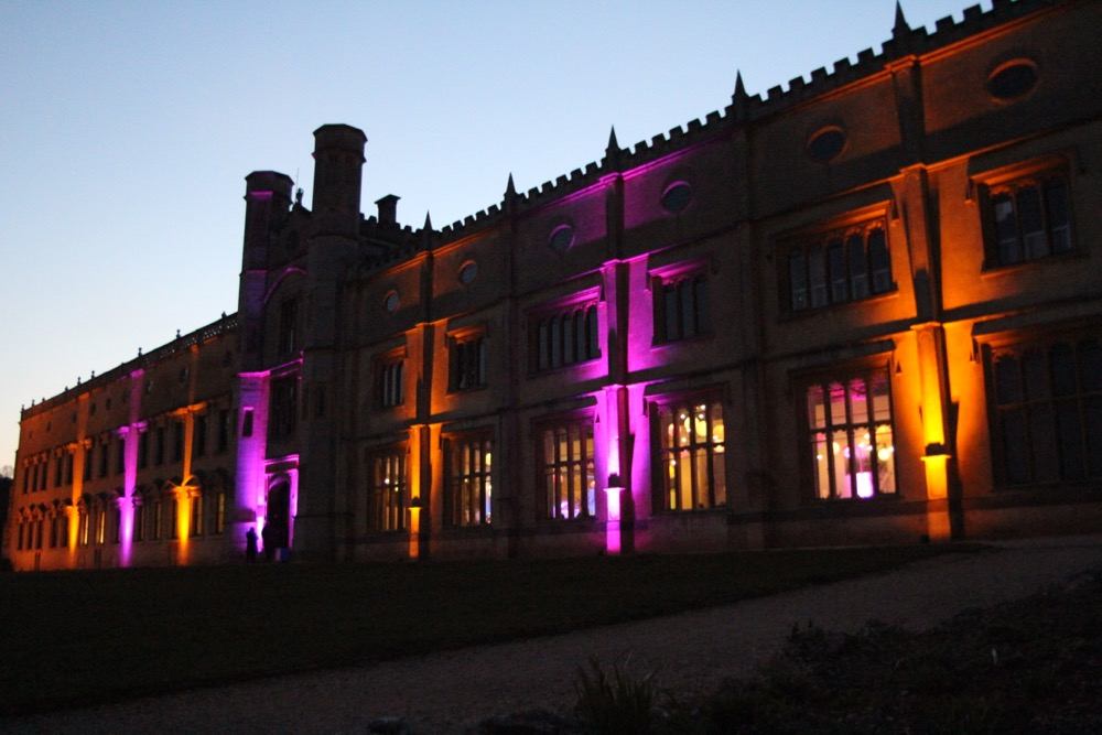 Ashton Court Mansion in Bristol with exterior LED lighting