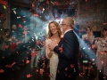 Perfect confetti cannon first dance
