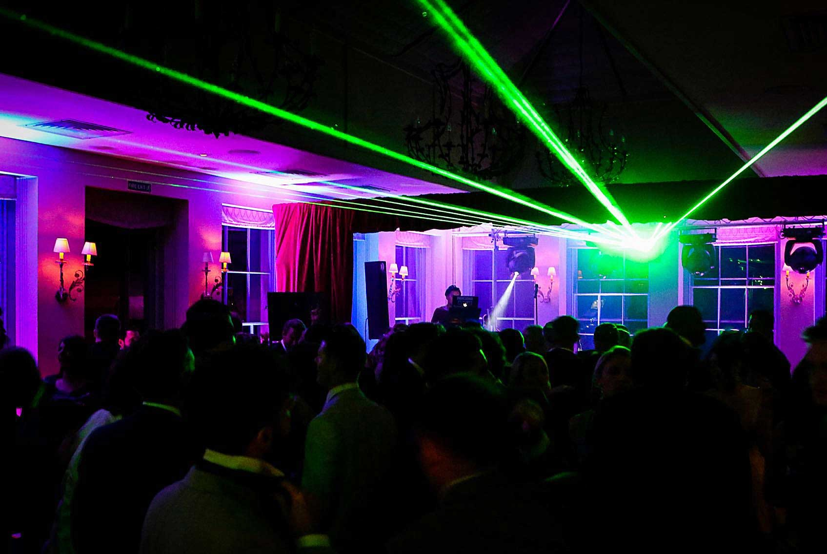 Image of a Lazer in Green with stage