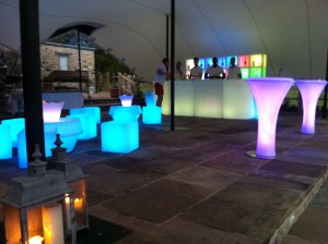 Image of LED furniture and stretch marquee