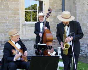 Image of a Jazz Trio playing at a wedding reception