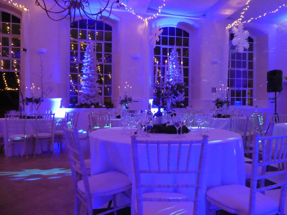 Kilver COurt Ballroom in Somerset with a Winter Wonderland Theme
